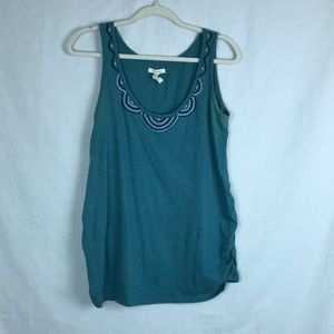 Maternity - Old Navy teal beaded tank top
